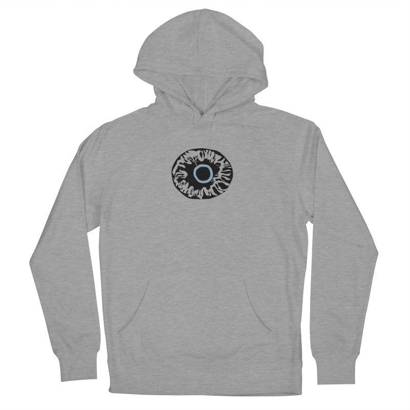 Eyez BluBlk Men's French Terry Pullover Hoody by saberdog's Artist Shop