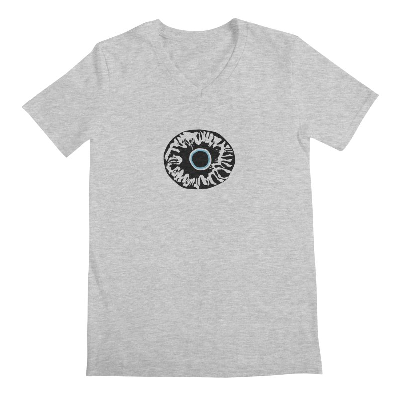 Eyez BluBlk Men's Regular V-Neck by saberdog's Artist Shop