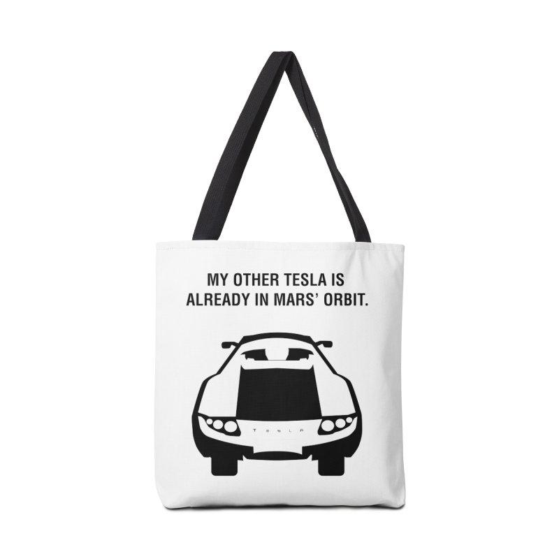 My Other Tesla Accessories Tote Bag Bag by saberdog's Artist Shop