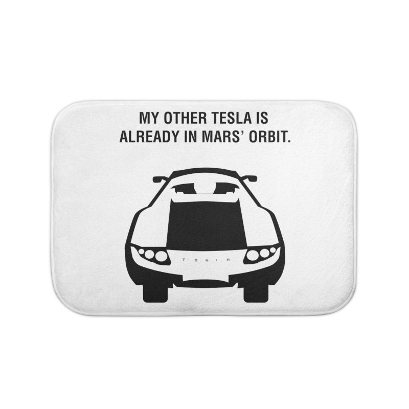 My Other Tesla Home Bath Mat by saberdog's Artist Shop
