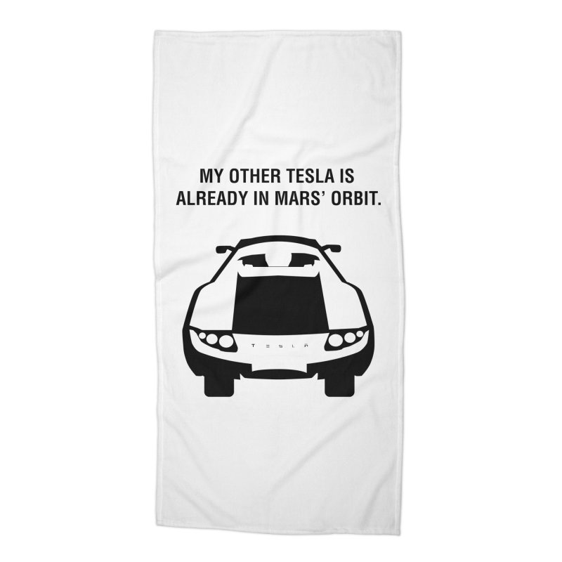 My Other Tesla Accessories Beach Towel by saberdog's Artist Shop