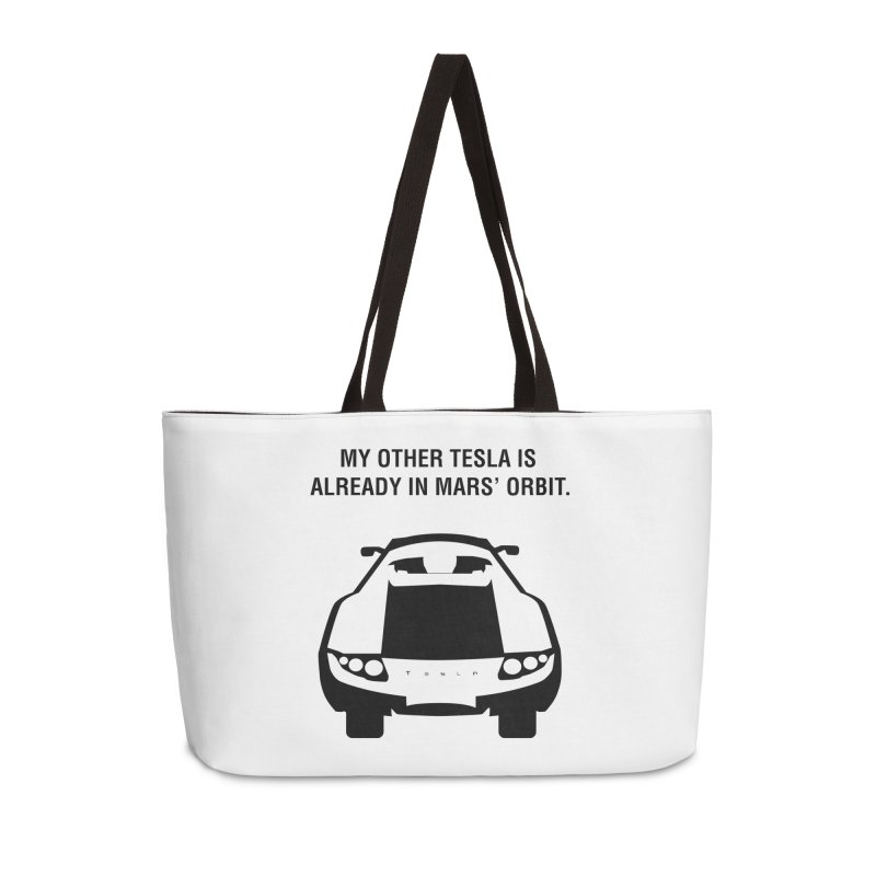 My Other Tesla Accessories Weekender Bag Bag by saberdog's Artist Shop