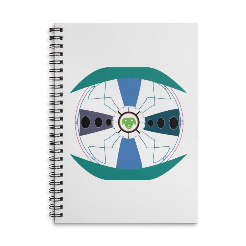 SaberShip Accessories Lined Spiral Notebook by saberdog's Artist Shop