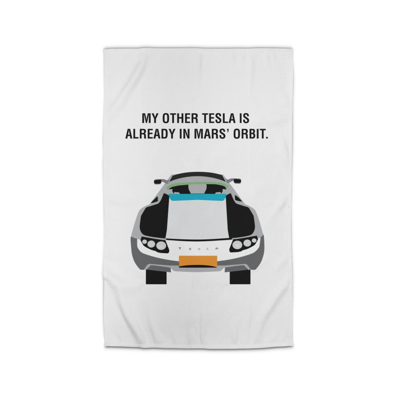 My Other Tesla is Already In Mars' Orbit Home Rug by saberdog's Artist Shop