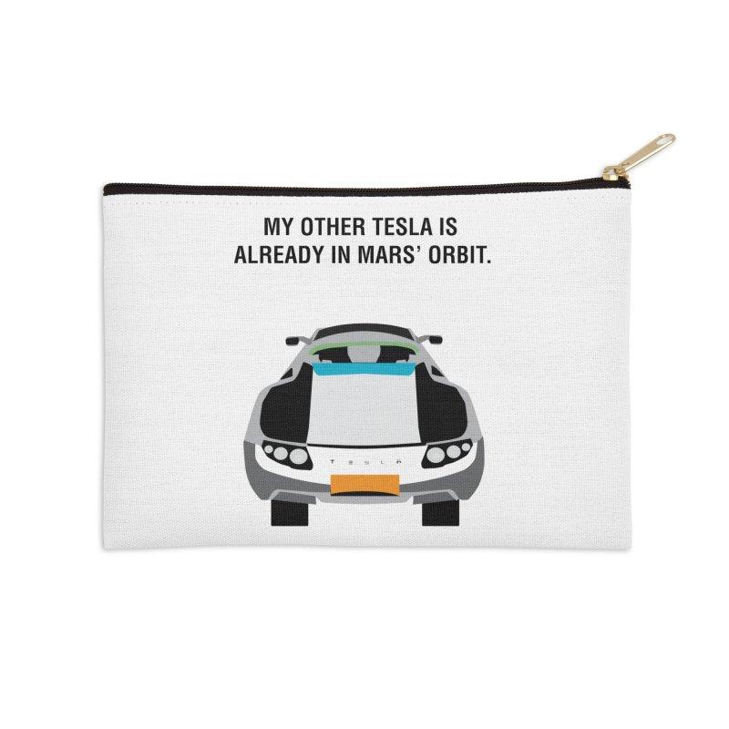 My Other Tesla is Already In Mars' Orbit Accessories Zip Pouch by saberdog's Artist Shop