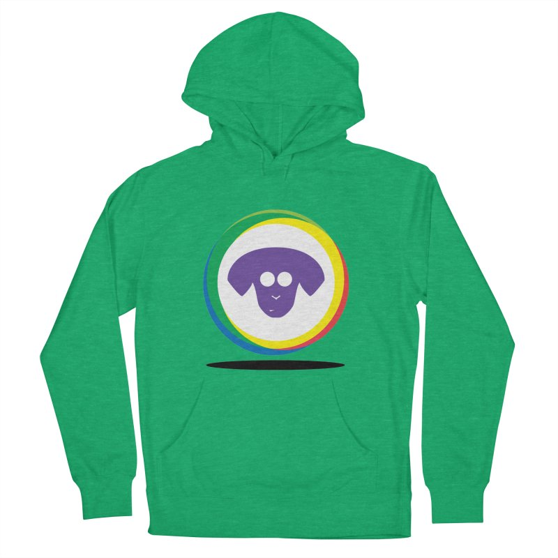 Donut Pup Men's French Terry Pullover Hoody by saberdog's Artist Shop