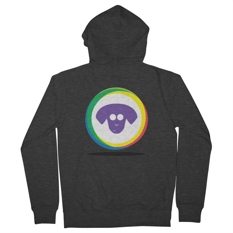 Donut Pup Women's French Terry Zip-Up Hoody by saberdog's Artist Shop