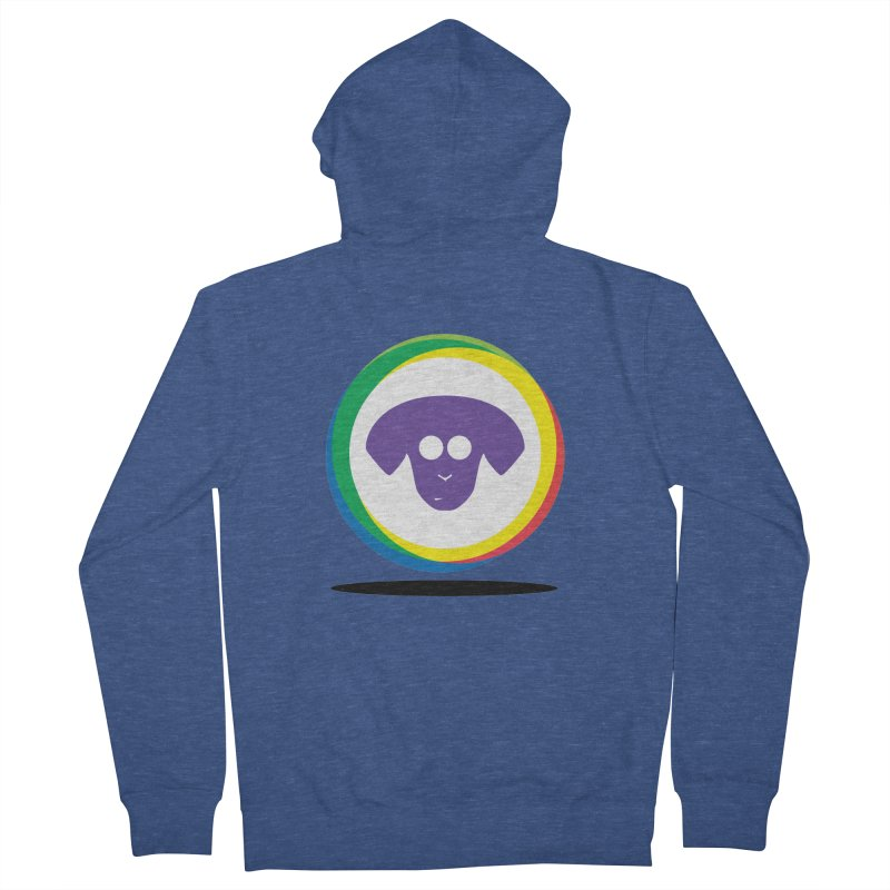 Donut Pup Men's French Terry Zip-Up Hoody by saberdog's Artist Shop