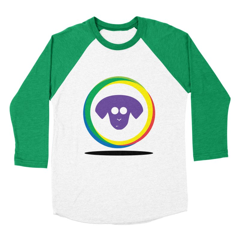 Donut Pup Men's Baseball Triblend Longsleeve T-Shirt by saberdog's Artist Shop