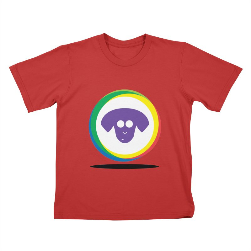 Donut Pup Kids T-Shirt by saberdog's Artist Shop