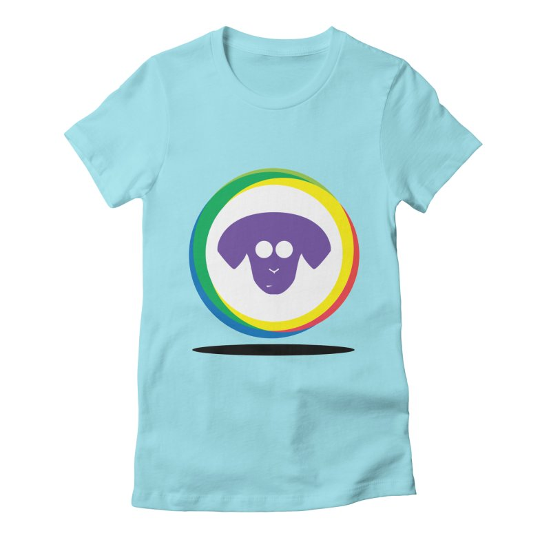 Donut Pup Women's Fitted T-Shirt by saberdog's Artist Shop
