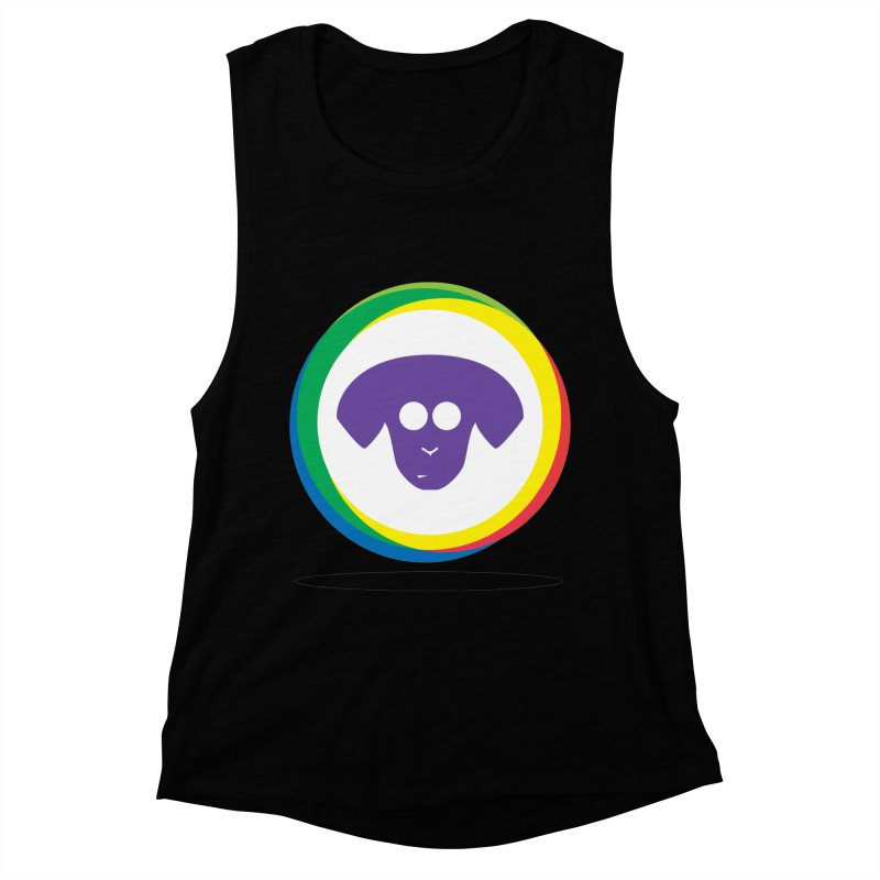 Donut Pup Women's Muscle Tank by saberdog's Artist Shop