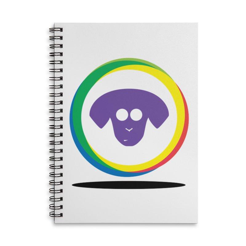 Donut Pup Accessories Lined Spiral Notebook by saberdog's Artist Shop
