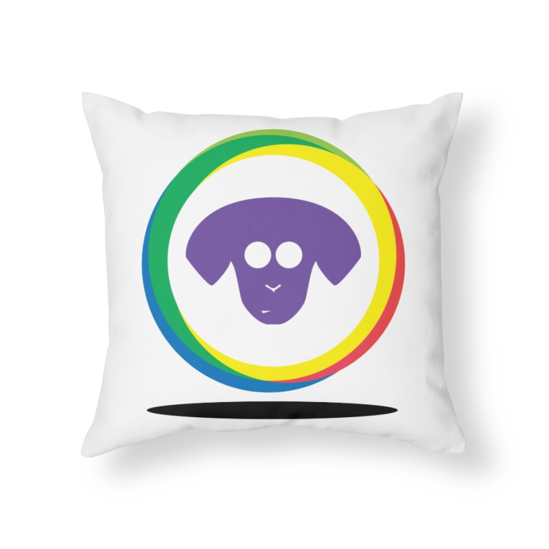 Donut Pup Home Throw Pillow by saberdog's Artist Shop