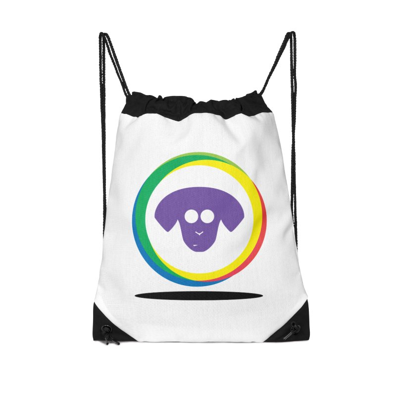 Donut Pup Accessories Drawstring Bag Bag by saberdog's Artist Shop