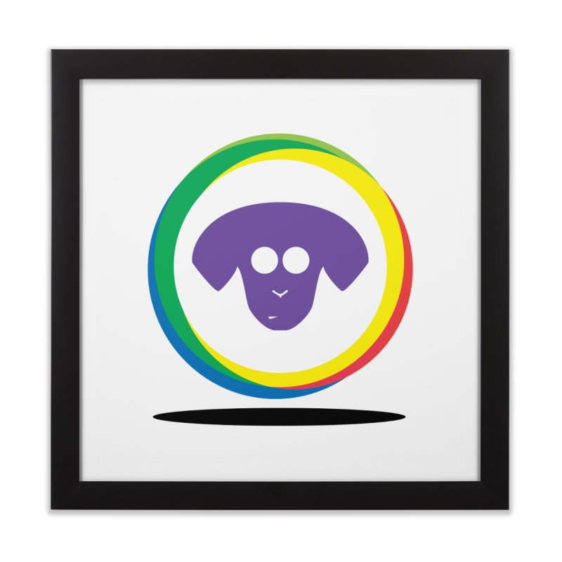 Donut Pup Home Framed Fine Art Print by saberdog's Artist Shop