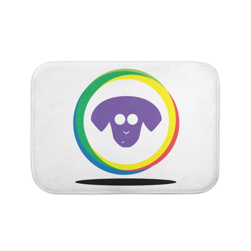 Donut Pup Home Bath Mat by saberdog's Artist Shop