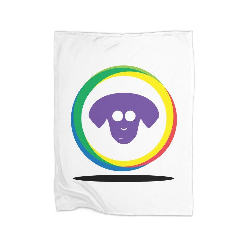 Donut Pup Home Fleece Blanket Blanket by saberdog's Artist Shop