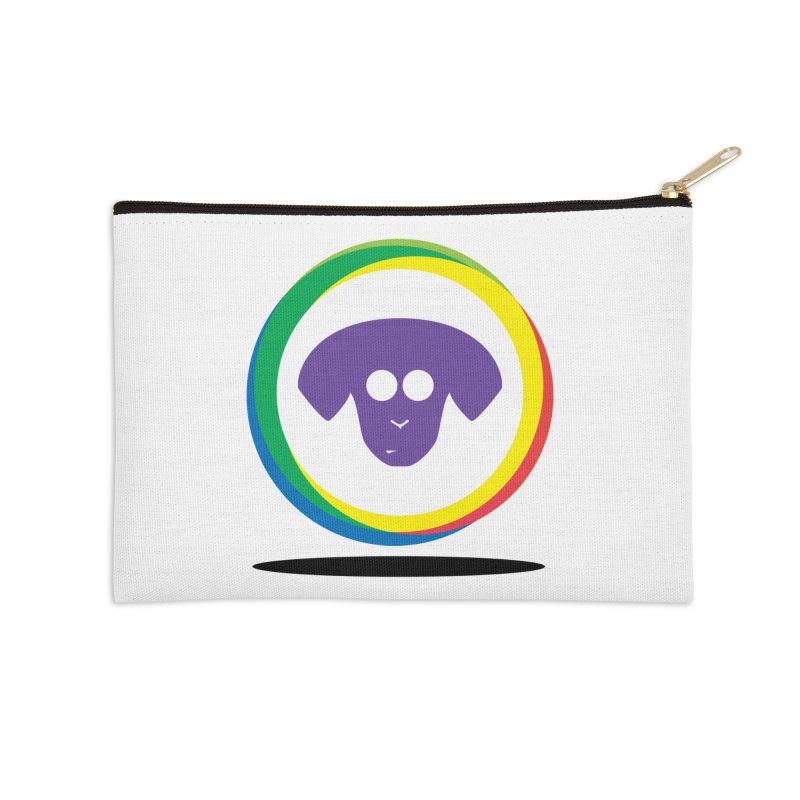 Donut Pup Accessories Zip Pouch by saberdog's Artist Shop