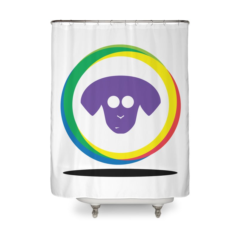 Donut Pup Home Shower Curtain by saberdog's Artist Shop