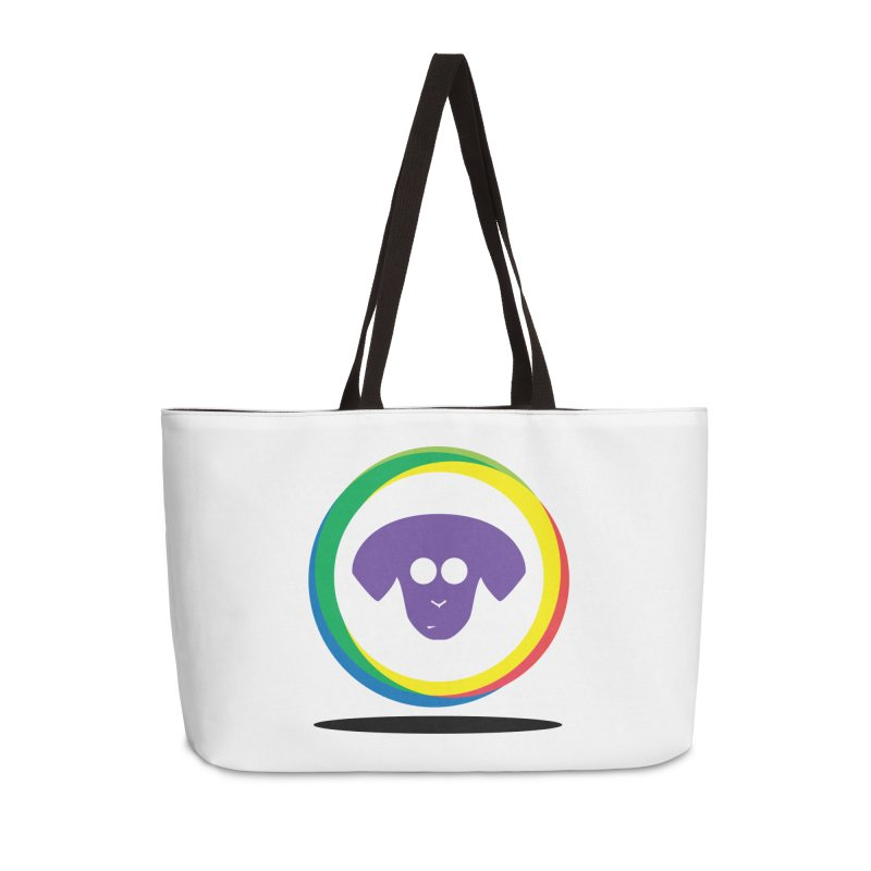Donut Pup Accessories Weekender Bag Bag by saberdog's Artist Shop