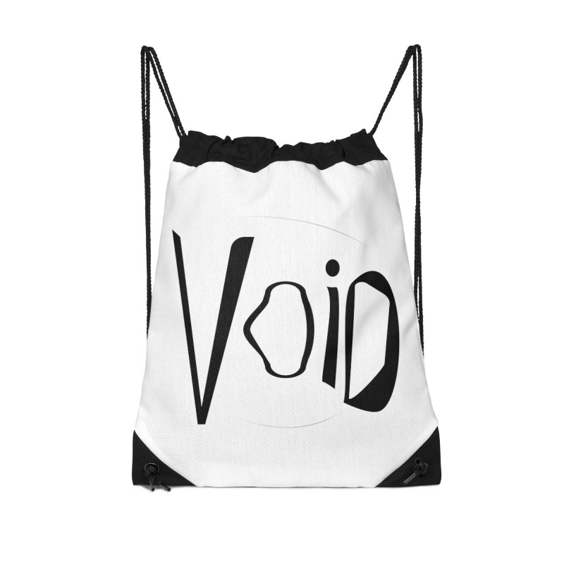 VOID Accessories Drawstring Bag Bag by saberdog's Artist Shop