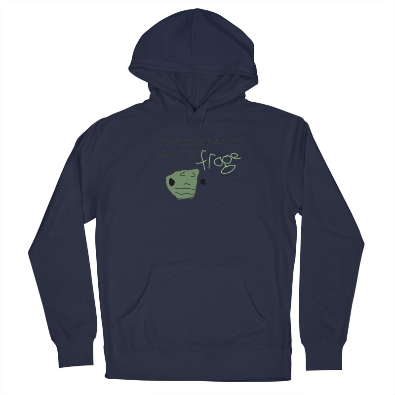 FROGE Women's French Terry Pullover Hoody by saberdog's Artist Shop
