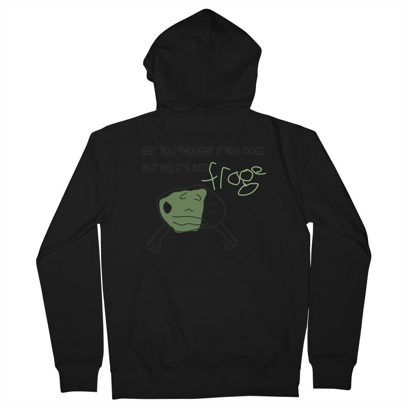 FROGE Women's French Terry Zip-Up Hoody by saberdog's Artist Shop