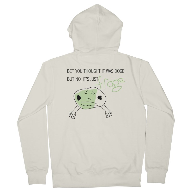 FROGE Men's French Terry Zip-Up Hoody by saberdog's Artist Shop