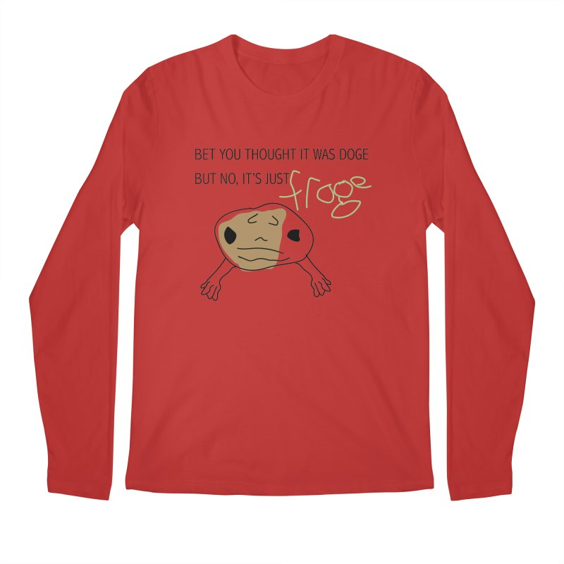 FROGE Men's Regular Longsleeve T-Shirt by saberdog's Artist Shop