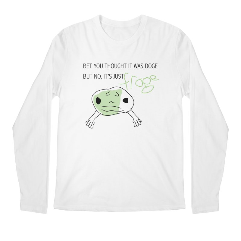 FROGE Men's Regular Longsleeve T-Shirt by saberdog's Artist Shop