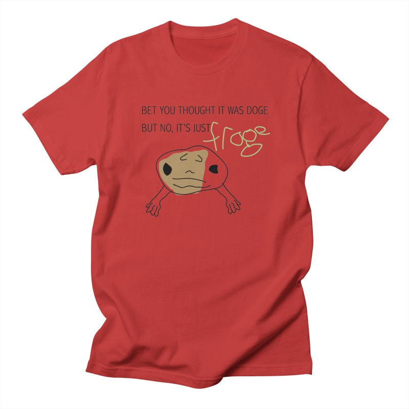 FROGE Women's Regular Unisex T-Shirt by saberdog's Artist Shop