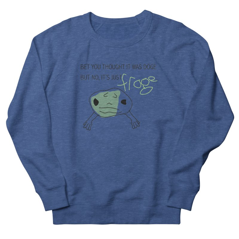 FROGE Men's French Terry Sweatshirt by saberdog's Artist Shop
