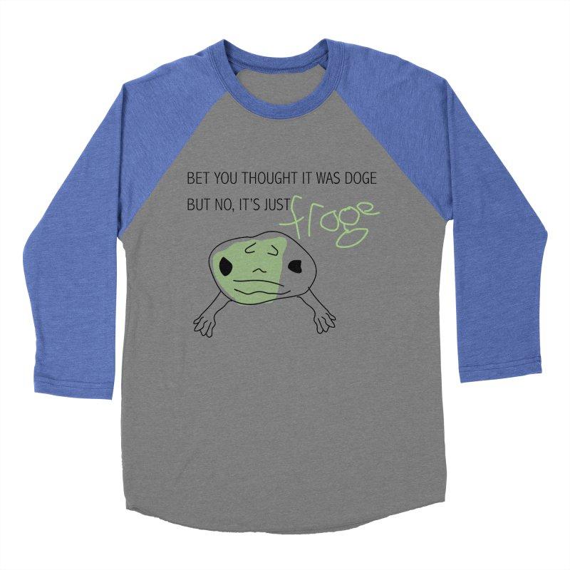 FROGE Men's Baseball Triblend Longsleeve T-Shirt by saberdog's Artist Shop