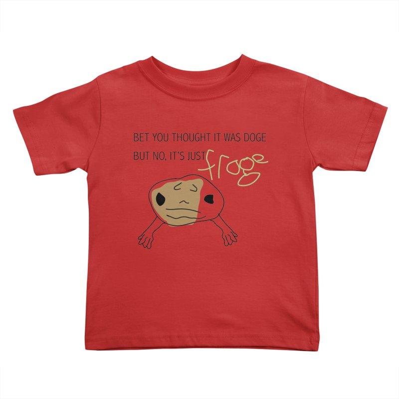 FROGE Kids Toddler T-Shirt by saberdog's Artist Shop