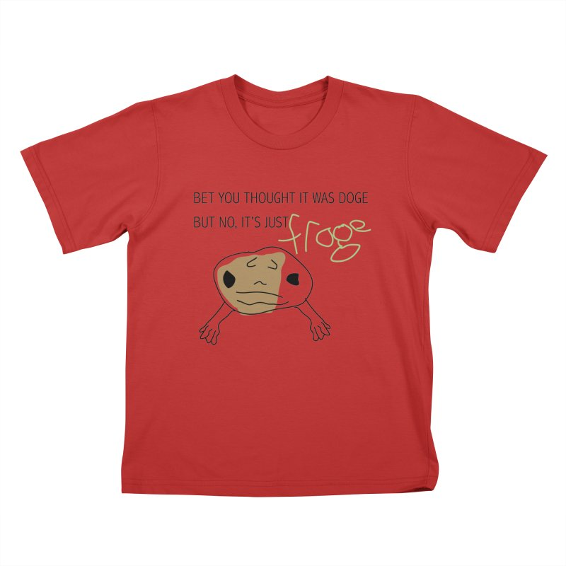 FROGE Kids T-Shirt by saberdog's Artist Shop