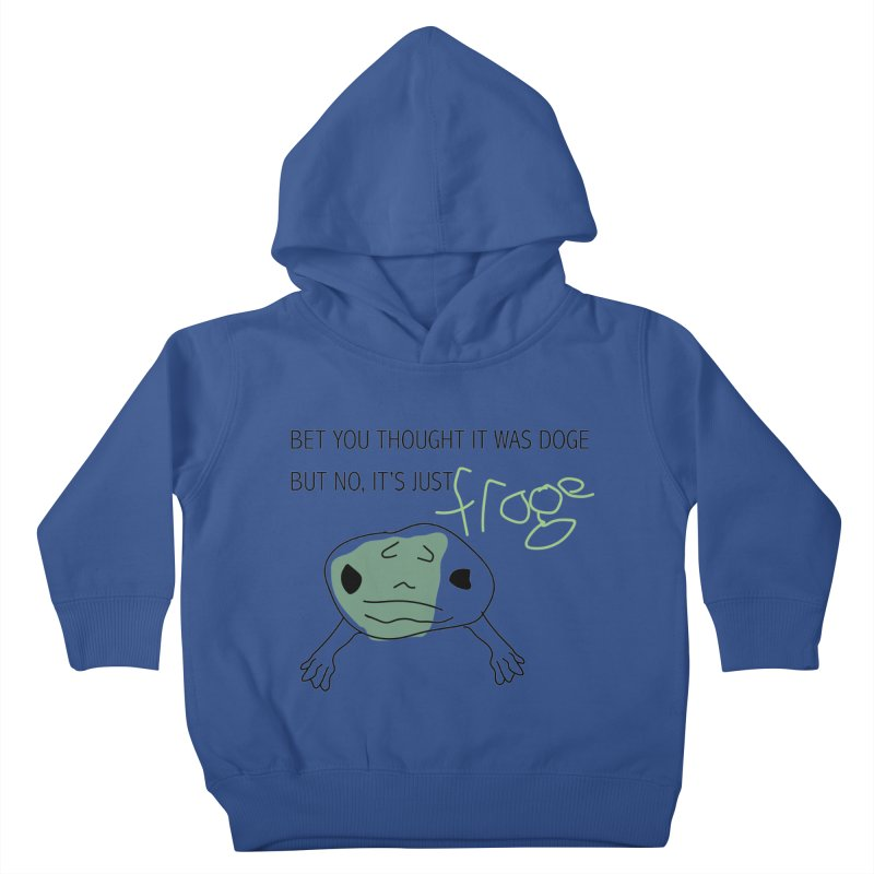 FROGE Kids Toddler Pullover Hoody by saberdog's Artist Shop