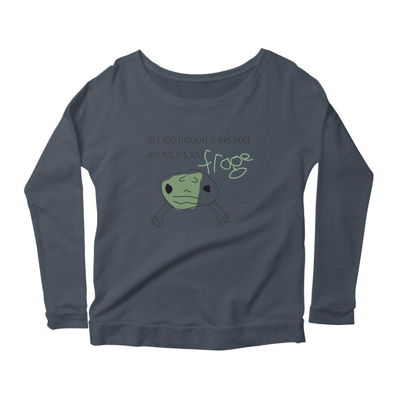FROGE Women's Scoop Neck Longsleeve T-Shirt by saberdog's Artist Shop