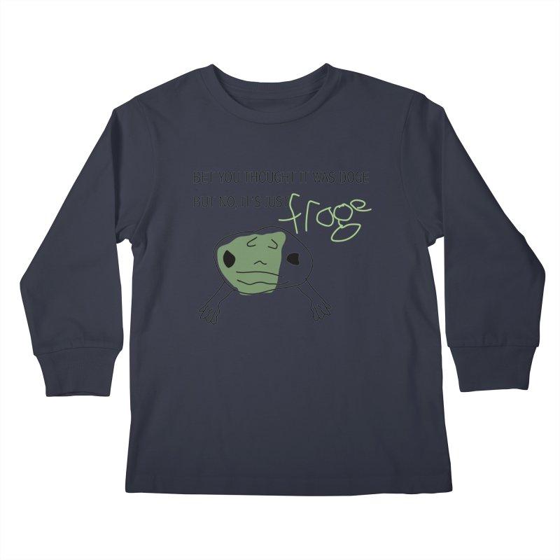 FROGE Kids Longsleeve T-Shirt by saberdog's Artist Shop