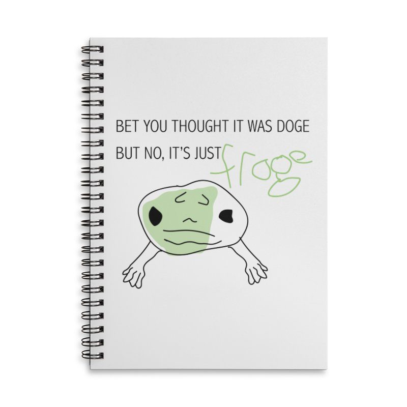 FROGE Accessories Lined Spiral Notebook by saberdog's Artist Shop