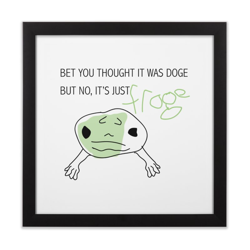 FROGE Home Framed Fine Art Print by saberdog's Artist Shop