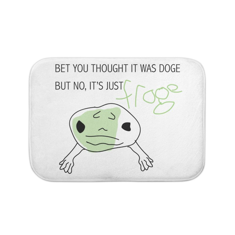 FROGE Home Bath Mat by saberdog's Artist Shop