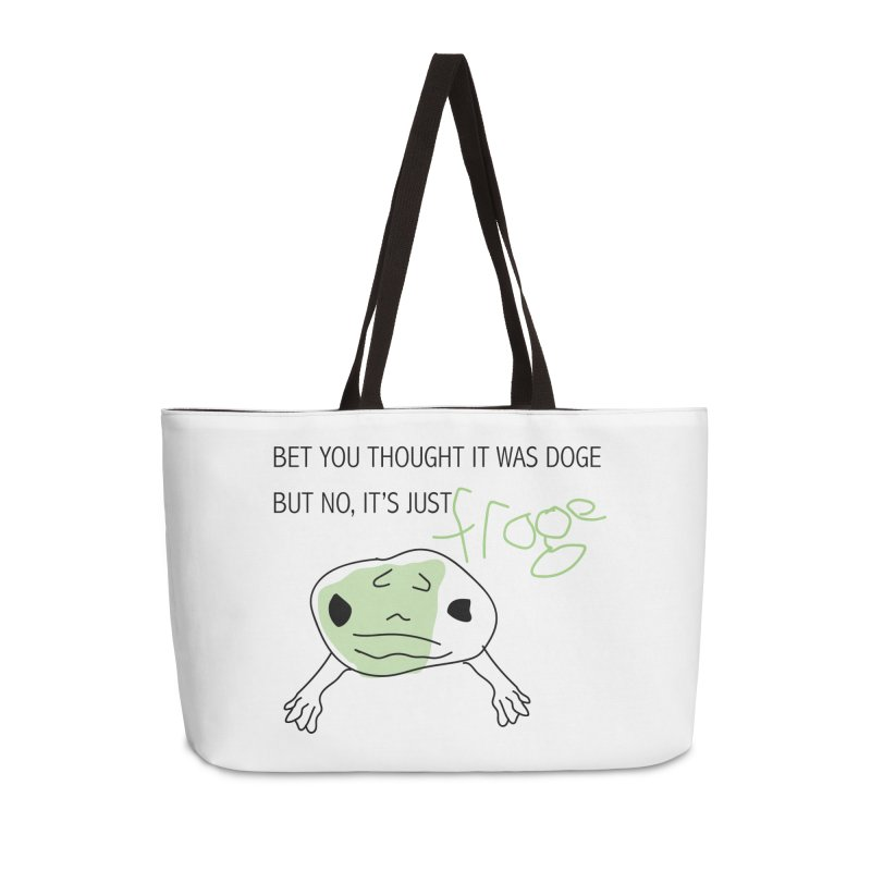 FROGE Accessories Weekender Bag Bag by saberdog's Artist Shop