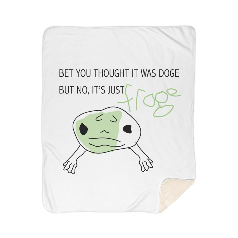 FROGE Home Blanket by saberdog's Artist Shop