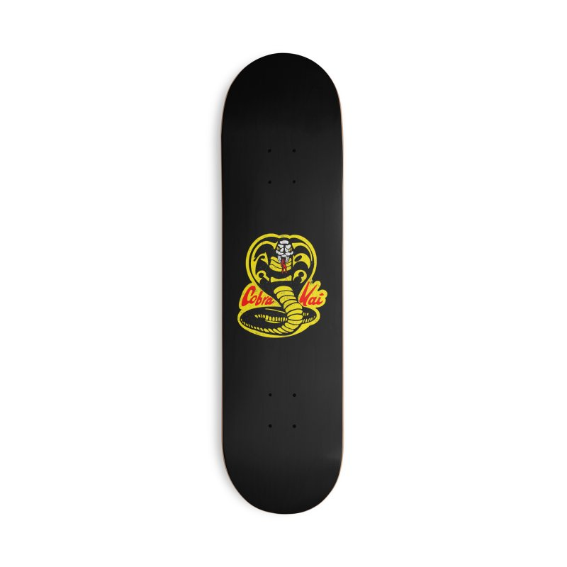 Cobra Kai ✅ Strike First - Strike Hard Accessories Skateboard by sachpica's Artist Shop