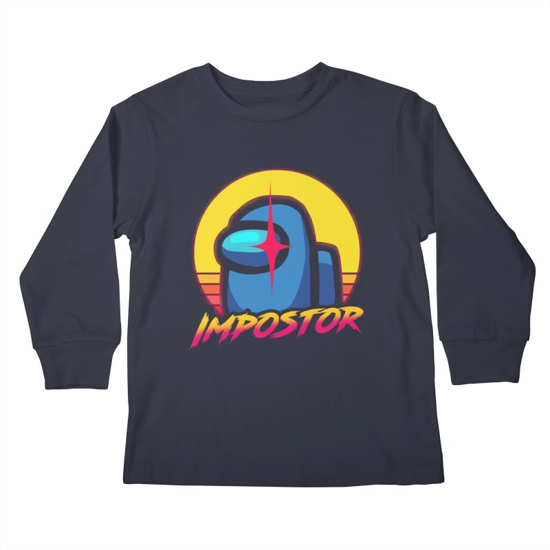 Impostor Among Us Kids Longsleeve T-Shirt by sachpica's Artist Shop