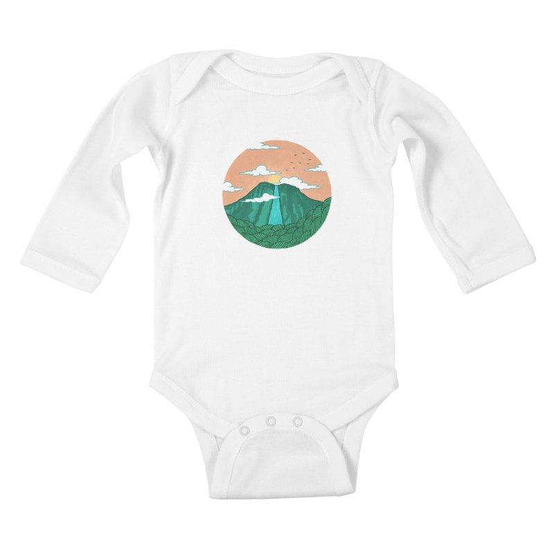 Meditation Kids Baby Longsleeve Bodysuit by sachpica's Artist Shop