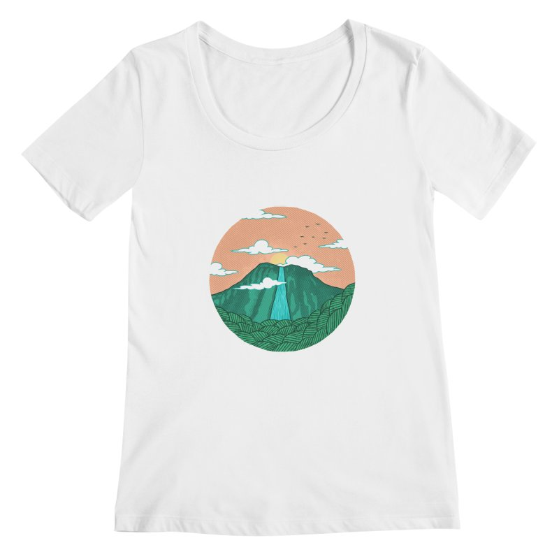 Meditation Women's Scoopneck by sachpica's Artist Shop