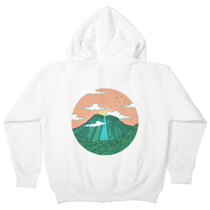 Meditation Kids Zip-Up Hoody by sachpica's Artist Shop