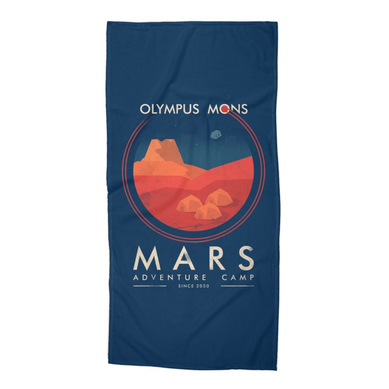 Mars Adventure Camp Accessories Beach Towel by sachpica's Artist Shop
